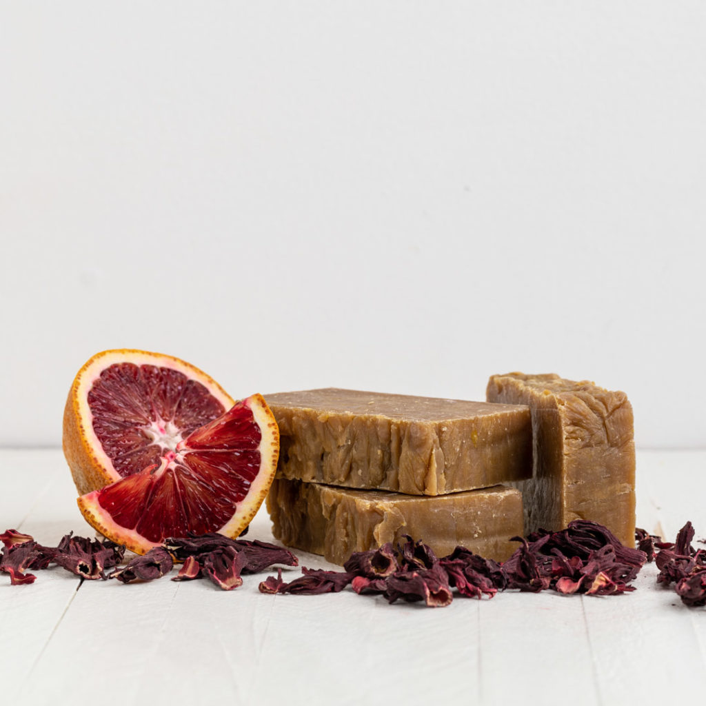 Hibiscus and Blood Orange Body Bar _ Sebesta Apothecary-square